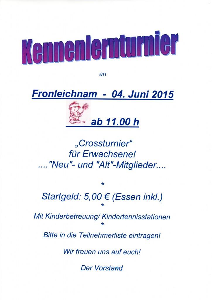 Kennenlernturnier 04.06.2015